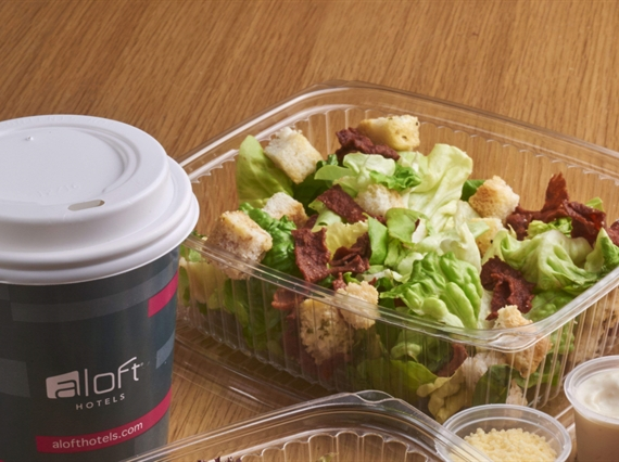 Salad and coffee